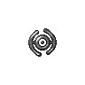 Metallic Unown (H)